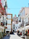 Gammal stad av den Ibiza staden Royaltyfri Fotografi