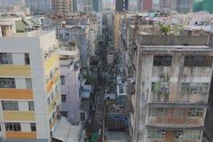 gammal stad av den kowloon staden Hong Kong Arkivbilder