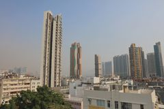 gammal stad av den kowloon staden Hong Kong Royaltyfri Bild