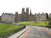 Gammal stad av Edinburg, Skottland, Arkivbilder