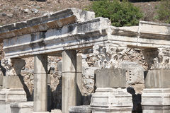 Gammal stad av Ephesus. Turkiet Fotografering för Bildbyråer