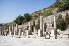Gammal stad av Ephesus. Turkiet Royaltyfri Fotografi