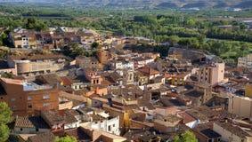 Gammal stad av Fraga, Spanien royaltyfri fotografi