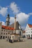 Gammal stad av Freising - från forntiden till framtiden Fotografering för Bildbyråer