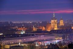 Gammal stad av Gdansk Fotografering för Bildbyråer