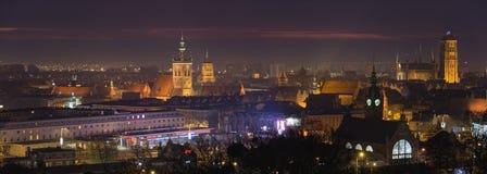 Gammal stad av Gdansk med historisk byggnad Arkivfoton