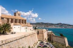 Gammal stad av Ibiza - Eivissa. Spanien Royaltyfri Bild