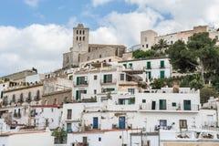 Gammal stad av Ibiza - Eivissa. Spanien Balearic Island Arkivbilder