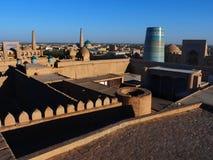 Gammal stad av Ichan-Qala i Khiva, Uzbekistan Royaltyfri Fotografi