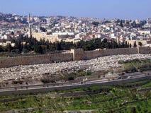 Gammal stad av Jerusalem arkivfoto