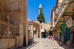 Gammal stad av Jerusalem, Israel Arkivbild