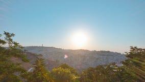 Gammal stad av Jerusalem timelapse västra gruppmuslimfjärdedel Top beskådar lager videofilmer