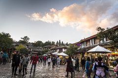 Gammal stad av Lijiang, Yunnan landskap, Kina royaltyfri fotografi