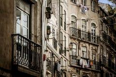 Gammal stad av Lissabon arkivbild