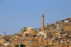 Gammal stad av Mardin i Turkiet arkivfoton