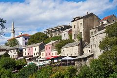 Gammal stad av Mostar, Bosnien och Hercegovina arkivbilder