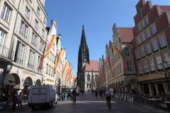 Gammal stad av Munster, Tyskland Royaltyfri Foto