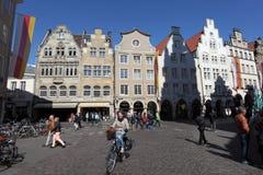 Gammal stad av Munster, Tyskland Arkivfoto