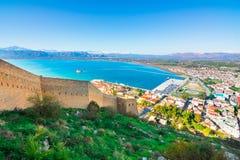 Gammal stad av Nafplion i Grekland Arkivfoton
