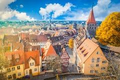 Gammal stad av Nuremberg, Tyskland arkivfoto