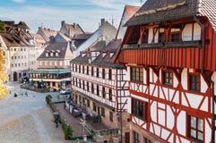 Gammal stad av Nuremberg, Tyskland fotografering för bildbyråer