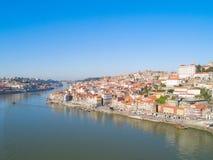 Gammal stad av Porto från över, Portugal arkivbild