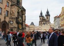 Gammal stad av Prague Arkivbilder