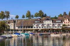 Gammal stad av Rapperswil, Schweiz Arkivfoton