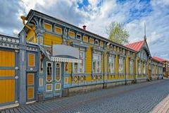 Gammal stad av Rauma, Finland royaltyfri foto