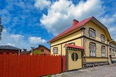 Gammal stad av Rauma, Finland arkivfoton