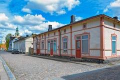 Gammal stad av Rauma, Finland royaltyfri fotografi