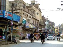 gammal stad av Rawalpindi, Pakistan royaltyfria foton