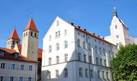 Gammal stad av Regensburg, Tyskland Arkivfoto