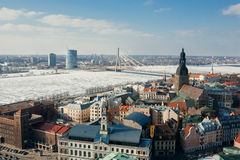 Gammal stad av Riga. Arkivbilder