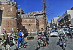 Gammal stad av Sana'a Arkivfoton