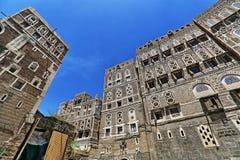 Gammal stad av Sana'a Arkivfoto