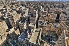 Gammal stad av Sana'a Arkivbild