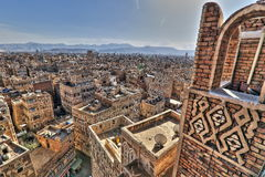 Gammal stad av Sana'a i HDR Royaltyfria Bilder