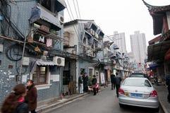 Gammal stad av Shanghai Fotografering för Bildbyråer