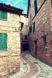 Gammal stad av Spello i Umbria, Italien arkivbilder