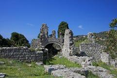 Gammal stad av stången, Montenegro Arkivfoto