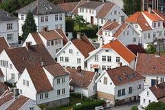 Gammal stad av Stavanger Royaltyfria Bilder