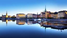 Gammal stad av Stockholm Royaltyfri Foto