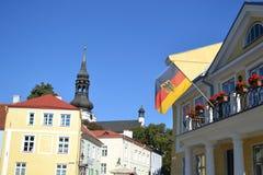 Gammal stad av Tallinn Arkivfoto