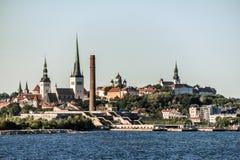 Gammal stad av Tallinn Estland Fotografering för Bildbyråer