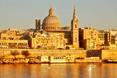 Gammal stad av Valletta, Malta Arkivbilder