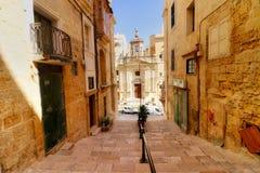 Gammal stad av Valletta, Malta Fotografering för Bildbyråer