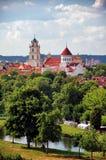Gammal stad av Vilnius i sommaren Royaltyfri Bild