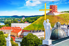 Gammal stad av Vilnius, Litauen royaltyfria bilder
