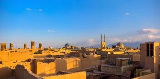 Gammal stad av Yazd, Iran Arkivbild